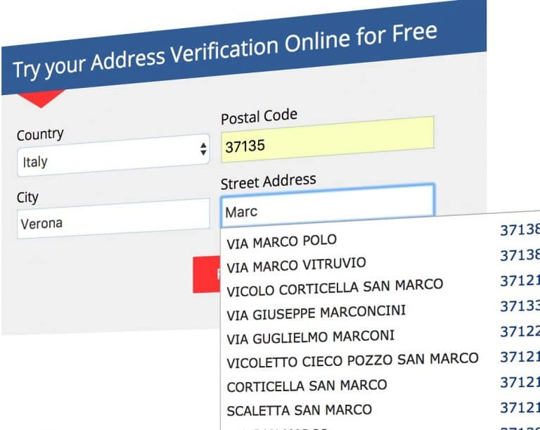 address validation autocomplete